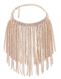 Luxury Gold Color Pure Color Decorated Tassel Choker