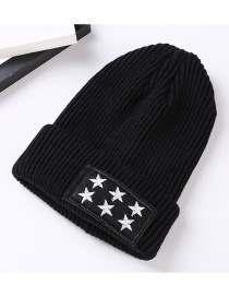Fashion Black Star Patch Decorated Hat