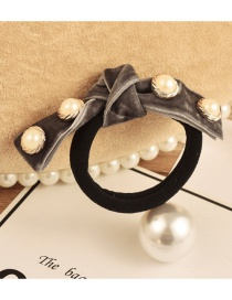 Fashion Light Gray Pearl Decorated Hair Band