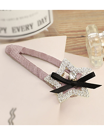 Lovely Dark Pink Star Shape Diamond Decorated Hairpin