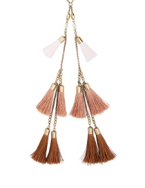 Vintage Brown Tassel Decorated Necklace