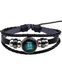 Fashion Black Gemini Pattern Decorated Bracelet