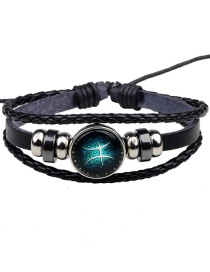 Fashion Black Pisces Pattern Decorated Bracelet