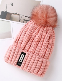Fashion Pink Pure Color Decorated Hat