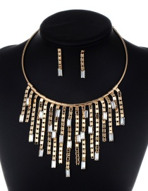 Fashion Gold Color Pure Color Decorated Jewelry Set