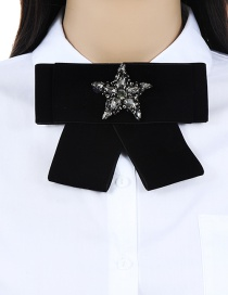 Fashion Gray Star Shape Decorated Bowknot Brooch