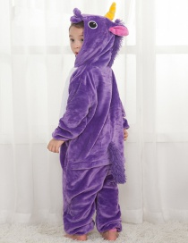 Lovely Purple Pure Color Decorated Children Pajamas