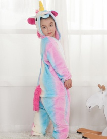 Lovely Multi-color Unicorn Decorated Children Pajamas