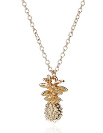Lovely Gold Color Pineapple Shape Decorated Necklace