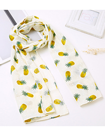 Lovely Beige Pineapple Pattern Decorated Child Scarf(1-12 Years Old)
