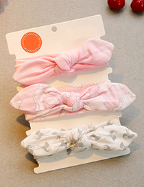 Lovely Pink Birl Pattern Decorated Baby Hair Band(3pcs 0-1year Old)
