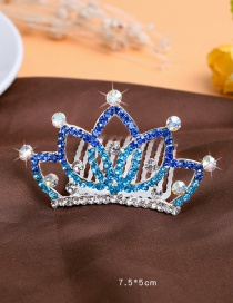 Lovely Blue Color-matching Decorated Hairpin (larger)