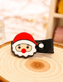 Fashion Red+white Santa Claus Decorated Christmas Hairpin
