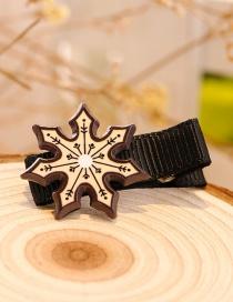 Fashion Coffee Snow Shape Decorated Christmas Hairpin