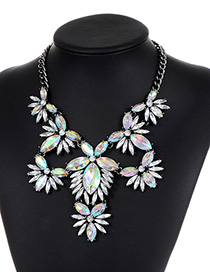 Fashion White Hollow Out Decorated Necklace