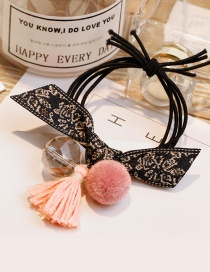 Fashion Pink Tassel Decorated Pom Ball Hair Band