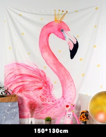 Fashion Pink Flamingo Pattern Decorated Background Cloth(no Led )