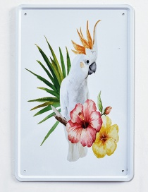 Fashion Multi-color Parrot Pattern Decorated Hang Painting