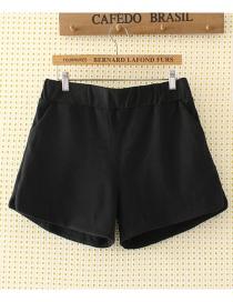 Pantalones Cortos De Lana De Moda