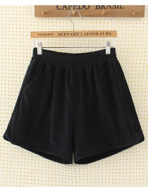Fashion Black Pure Color Decorated Shorts
