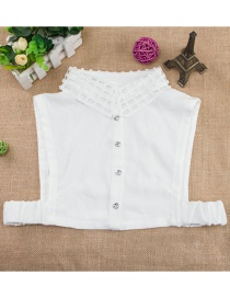 Fashion White Hollow Out Decorated Fake Collar