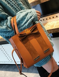 Fashion Brown Bowknot Shape Decorated Bag
