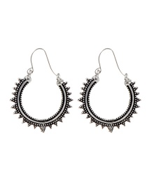 Fashion Silver Color Circular Ring Shape Decorated Earrings