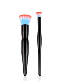 Fashion Red+blue Color Matching Decorated Makeup Brush (2pcs)
