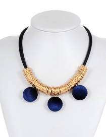 Fashion Blue Pom Ball Decorated Necklace