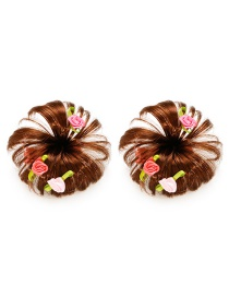 Fashion Pink Rose Shape Decorated Baby Hair Clip(1 Pair)