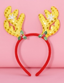 Lovely Yellow+red Antlers Shape Decorated Christmas Hair Clip