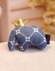 Lovely Navy Elephant Shape Decorated Hair Clip