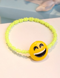 Lovely Yellow Expression Shape Decorated Hair Band