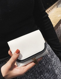 Fashion White Color Matching Decorated Wallet