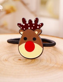 Lovely Yellow+brown Cartoon Deer Decorated Hair Band