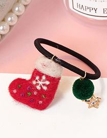 Lovely Plum-red Sock Shape Decorated Hair Band