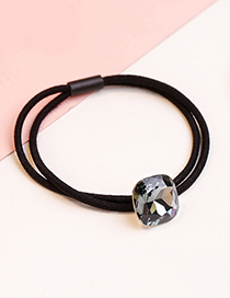 Fashion White Square Shape Decoeared Double Layer Hair Band