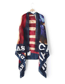 Fashion Multi-color Letter Pattern Decorated Simple Scarf