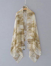 Fashion Light Khaki Graffiti Pattern Decorated Simple Scarf