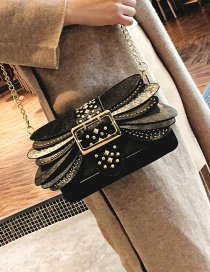 Personality Black Wing Shape Decorated Bag