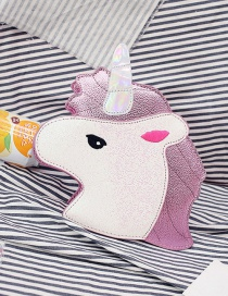 Fashion Pink Unicorn Shape Decorated Bag