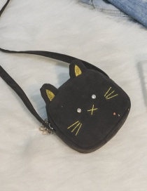 Lovely Dark Gray Cat Shape Decorated Bag