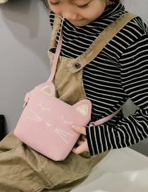 Lovely Pink Cat Shape Decorated Baby Bag