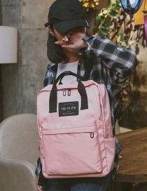 Fashion Pink Square Shape Decorated Backpack