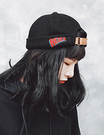 Fashion Black Embroidery Decorated Hat