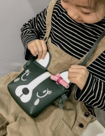 Lovely Green Dog Shape Decorated Baby Bag