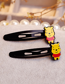 Lovely Yellow Cartoon Bear Decorated Hair Clip(1pair)