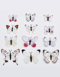 Lovely White Butterfly Shape Decorated Ornament (12pcs)