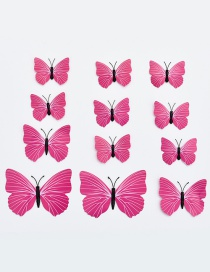 Lovely Plum-red Butterfly Shape Decorated Ornament (12pcs)