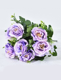 Lovely Purple Rose Shape Decorated Ornament